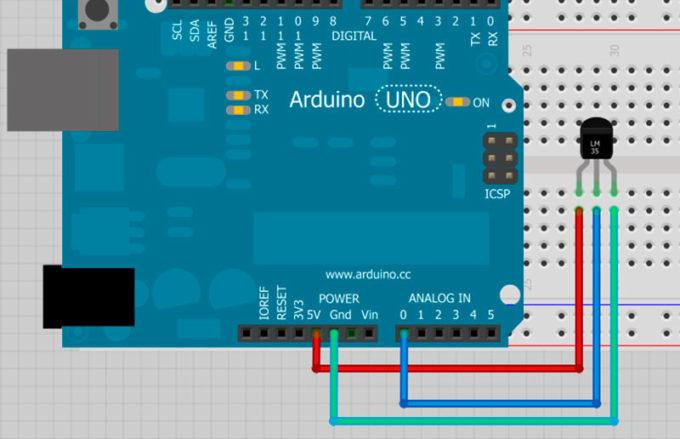 Подключаем датчики температуры к Arduino